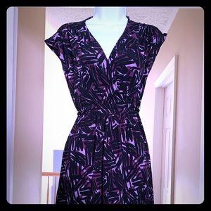 Black & Lavender Merona Dress
